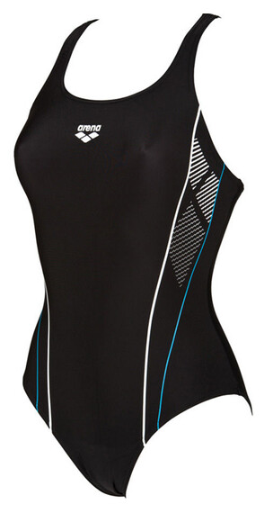 arena Skid One Piece Swimsuit Women black/turquoise/white